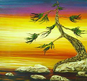 """Dawn Delight"" - Acrylic on canvas - 12 x 12"