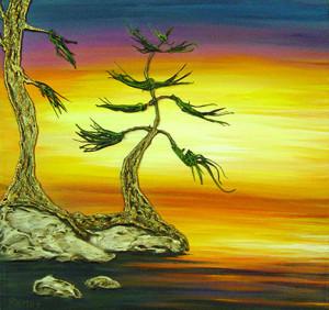 """Daylight Yearning"" - Acrylic on canvas - 12 x 12"