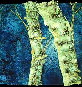 """""""Dreamer"""" - Acrylic on Canvas - 12 x 12"""