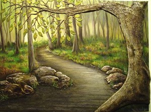 """Path to Discovery"" acrylic on canvas  30""h x 40""w"