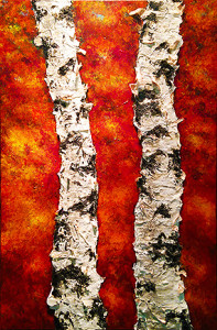 """""""Rising Song"""" Acrylic on canvas - 36""""h x 24""""w"""