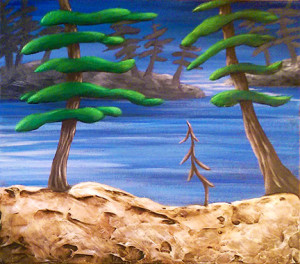 """Summer Flourish"" - Acrylic on canvas - 12""x 12"""