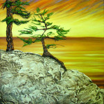 """""""Sunset Medley"""" acrylic on canvas - 12"""" x12"""""""