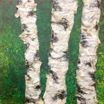"""Tree 1"" acrylic on canvas - 12"" x 12"""