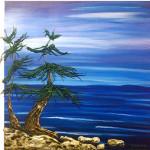 """Tree 2"" acrylic on canvas - 12"" x 12"""