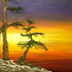 """Tree 3"" acrylic on canvas - 12"" x 12"""