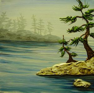 """Interior Insight"" - Acrylic on canvas - 12 x 12"
