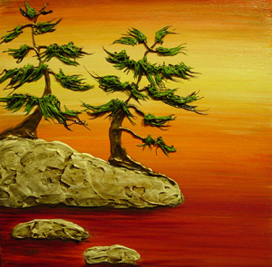 """Sunset Memories"" - Acrylic on canvas - 12 x 12"