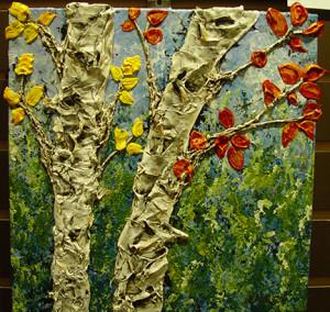 """""""Unfolding Illumination"""" - Acrylic on canvas - 12 x 12"""