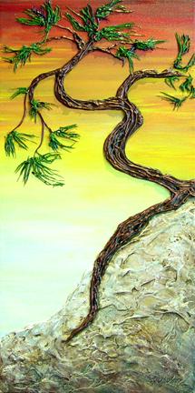 """""""Zephyrs Yen"""" - acrylic on canvas - 24"""" h x 12""""w - $290"""