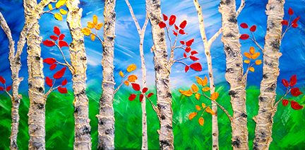 """Windy Day"" 36""x 72"" - Acrylic on canvas - $2600"